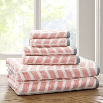 Nadia 6 Piece Cotton Jacquard Towel Set