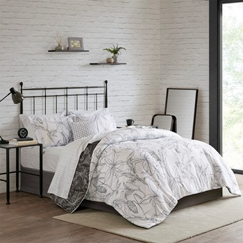 Lilia Reversible Complete bedding set with Cotton Sheet