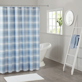 Sade Ombre Waffle Weave Shower Curtain