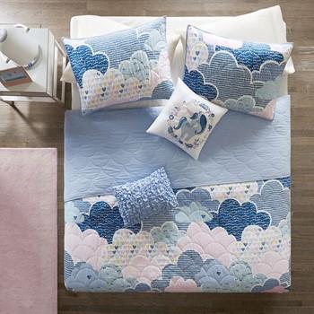 Cloud Cotton Reversible Coverlet Set
