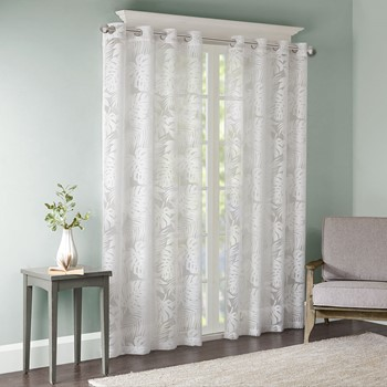 Leilani Palm Leaf Burnout Window Sheer