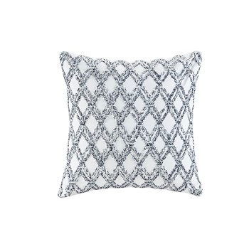 Riko Cotton Embroidered Square Pillow