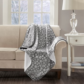 Meribel Snowflake Print Throw
