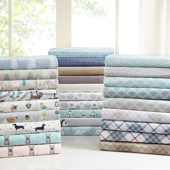 Cozy Flannel 100% Cotton Flannel Printed Sheet Set