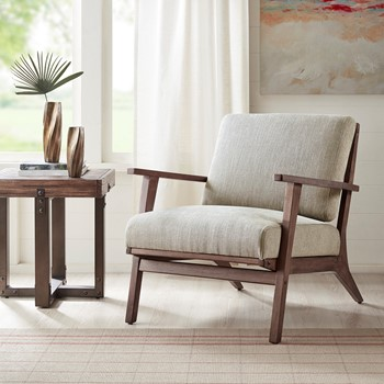 Axis Exposed Wood Accent Chair