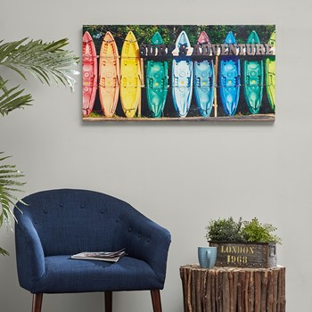 Kayaking Colors Gel Coat Canvas