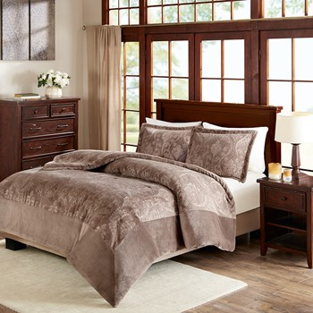 Kramer Textured Plush Comforter Mini Set