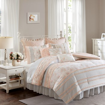 Serendipity Cotton Percale Comforter Set