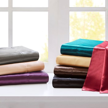 Satin Wrinkle-Free Luxurious 6-Piece Sheet Set