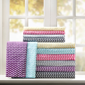 Chevron Microfiber Sheet Set