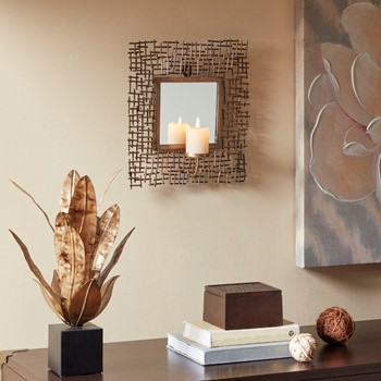 Costa Spectra Wall Candle Holder With Mirror