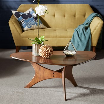 Blaze Triangle Wood Coffee table