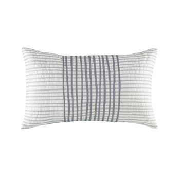 Bishop Cotton Embroidered Oblong Pillow