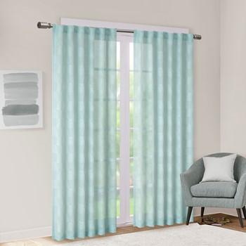 Kenzie Jacquard Clipped Geo Window Sheer