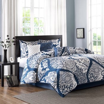 Vienna 7 Piece Cotton Printed Comforter Set