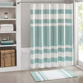 spa waffle shower curtain with 3m treatment - Unique Shower Curtains