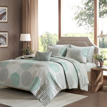 Knowles Complete Coverlet and Cotton Sheet Set
