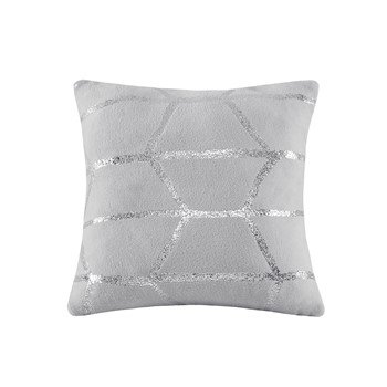 Raina Metallic Print Decorative Pillow