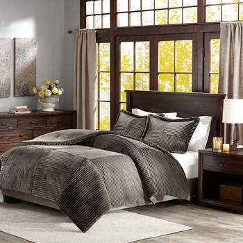 Parker Corduroy Plush Comforter Mini Set