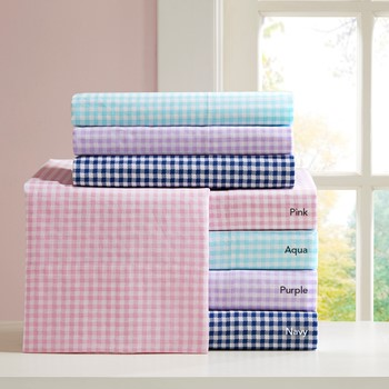 Gingham Cotton Sheet Set