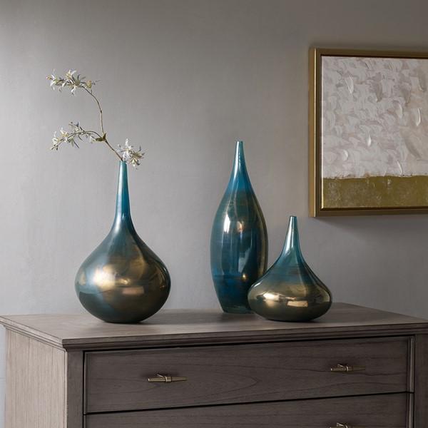 Aurora Handmade Rainbow Glass Vase Set Of 3 Madison Park