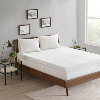 """3-zone 3"""" Memory Foam Topper with Removable Cover"""