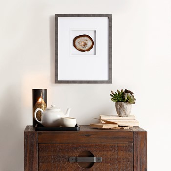 Natural Agate Stone Framed Graphic