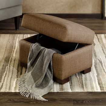 Cindy Midsize Foot Stool Storage Ottoman