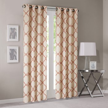 Saratoga Fretwork Print Window Curtain