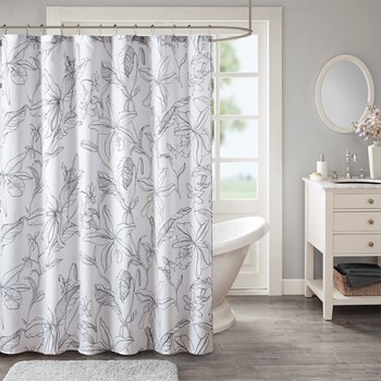 Lilia Printed Floral Shower Curtain