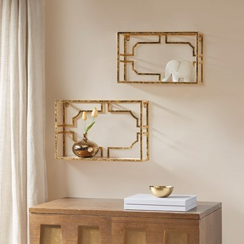 Addison set of 2 Mirror shelf