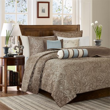 Aubrey 6 Piece Reversible Coverlet Set