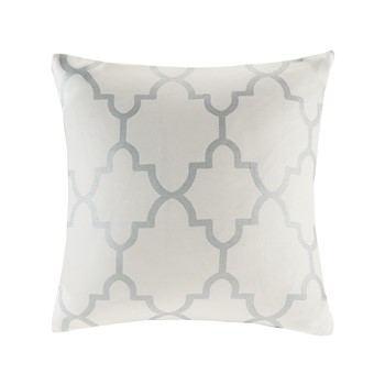Saratoga Fretwork Print Square Pillow