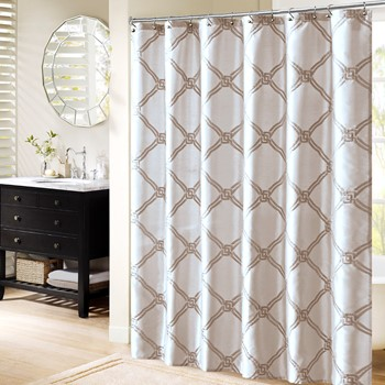 Teramo Embroidered Shower Curtain