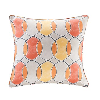 Gaviota Printed Circles 3M Scotchgard Outdoor Square Pillow