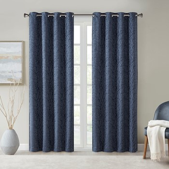 Everly Branch Jacquard Total Blackout Window Panel