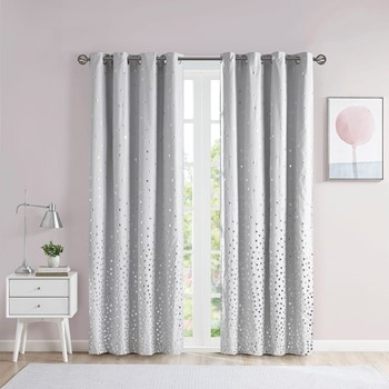 Zoey Total Blackout Printed Metallic Window Panel