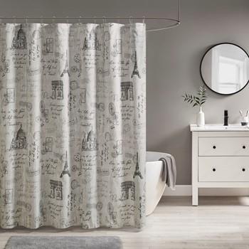 Marseille Paris Printed Shower Curtain