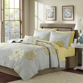 Avalon Complete Coverlet and Cotton Sheet Set