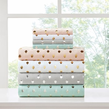 Metallic Dot Printed Sheet Set