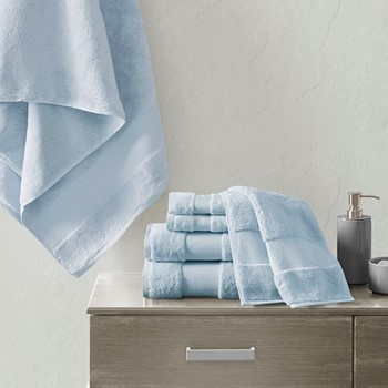 Turkish Cotton 6 Piece Bath Towel Set