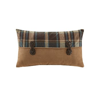 Hadley Plaid Pieced Oblong Pillow
