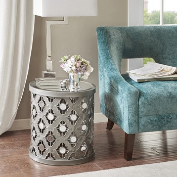 Arian Quatrefoil Mirror Accent Table