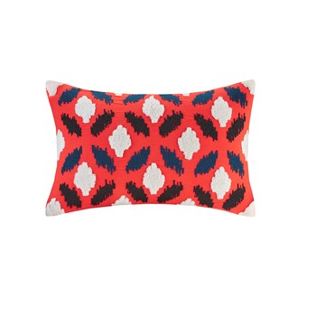 Diamond Geo Embroidery Oblong Pillow