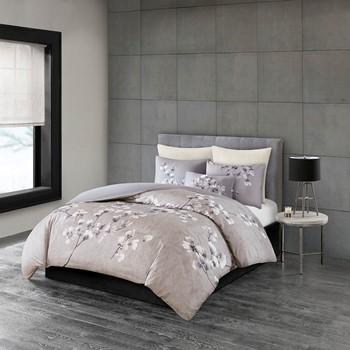 Sakura Blossom 3 Piece Cotton Sateen Printed Comforter Set