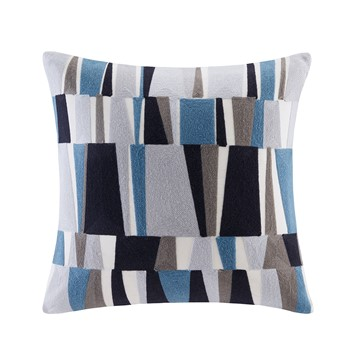 Lars Embroidered Stripe Decorative Pillow