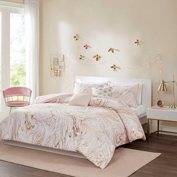 Rebecca Metallic Printed Comforter Set