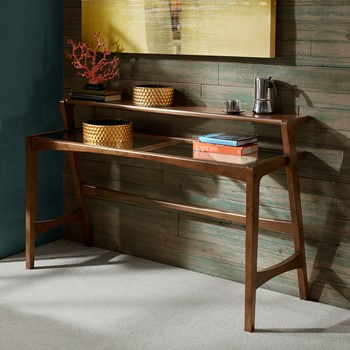 Rocket Console Table with Glass