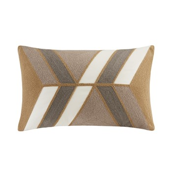 Aero Embroidered Abstract Oblong Pillow