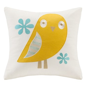 Agatha Embroidered Square Pillow